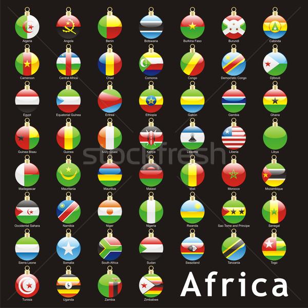 Aislado África banderas Navidad forma Foto stock © PilgrimArtworks