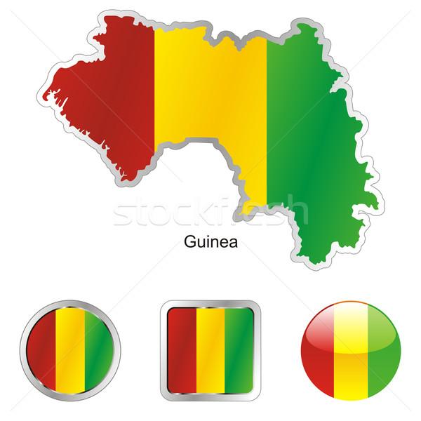 Guinea térkép háló gombok formák szerkeszthető Stock fotó © PilgrimArtworks