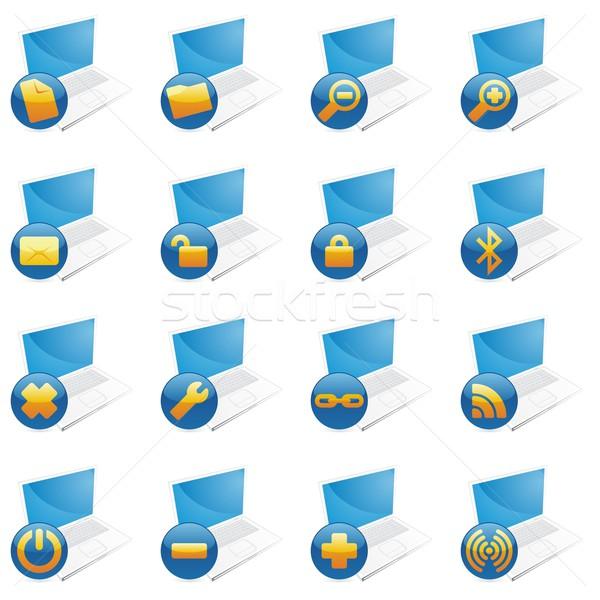 isolated internet icons Stock photo © PilgrimArtworks