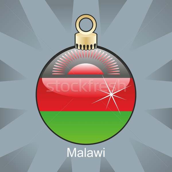 isolated malawi flag in christmas bulb shape Stock photo © PilgrimArtworks