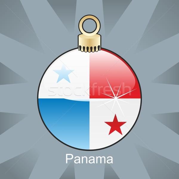 Izolált Panama zászló karácsony villanykörte forma Stock fotó © PilgrimArtworks