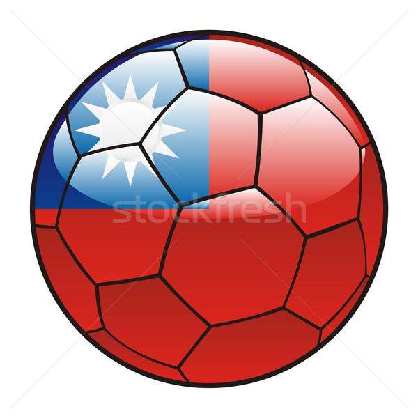 Taiwan vlag voetbal voetbal sport voetbal Stockfoto © PilgrimArtworks