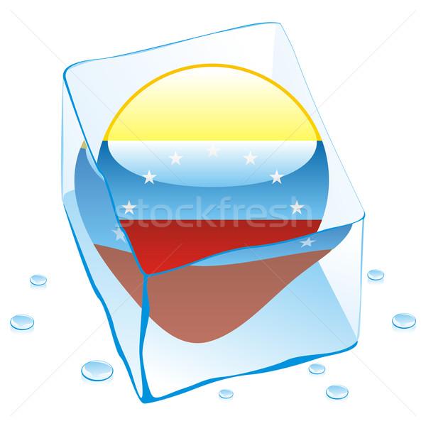 Venezuela gomb zászló fagyott jégkocka szerkeszthető Stock fotó © PilgrimArtworks