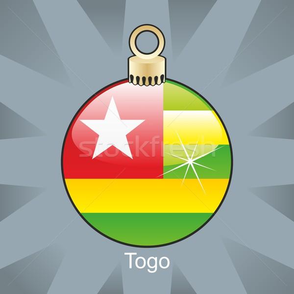 Odizolowany Togo banderą christmas żarówki Zdjęcia stock © PilgrimArtworks