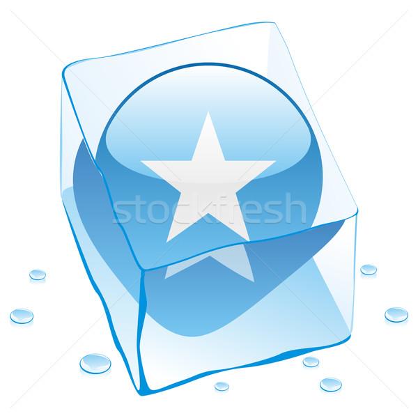 Somali przycisk banderą zamrożone kostkę lodu Zdjęcia stock © PilgrimArtworks