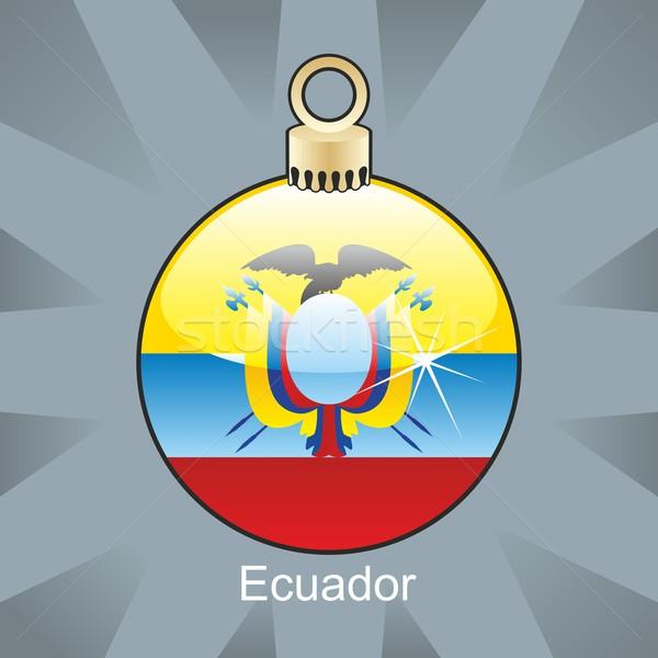 Yalıtılmış Ekvador bayrak Noel ampul biçim Stok fotoğraf © PilgrimArtworks