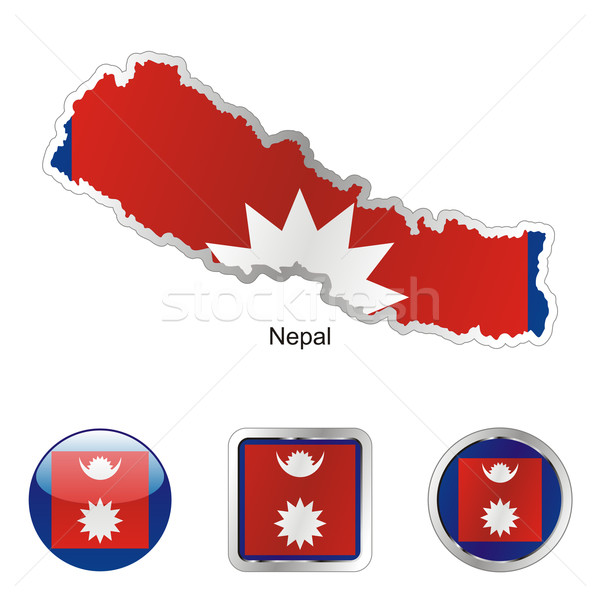 nepal in map and internet buttons shape Stock photo © PilgrimArtworks
