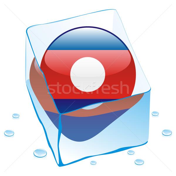 ラオス ボタン フラグ 凍結 アイスキューブ ストックフォト © PilgrimArtworks