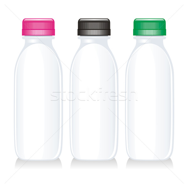 孤立した ミルク ガラス ボトル 光 ストックフォト © PilgrimArtworks