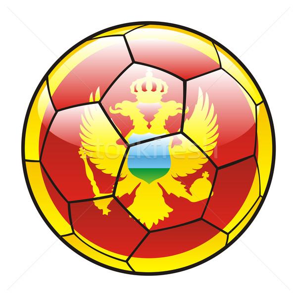 モンテネグロ フラグ サッカーボール サッカー スポーツ サッカー ストックフォト © PilgrimArtworks