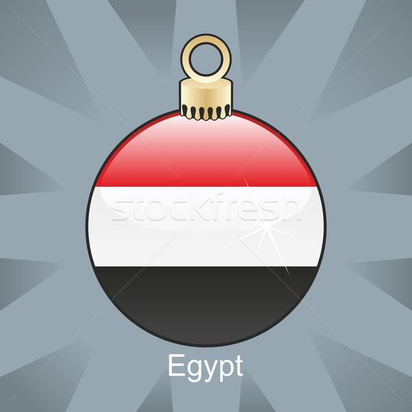isolated egypt flag in christmas bulb shape Stock photo © PilgrimArtworks
