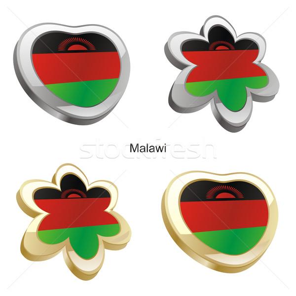 Malawi vlag hart bloem vorm Stockfoto © PilgrimArtworks
