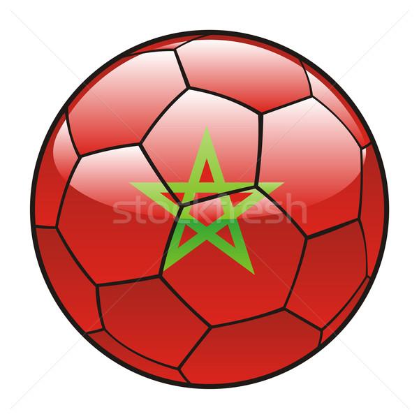Марокко флаг футбольным мячом Футбол спорт футбола Сток-фото © PilgrimArtworks