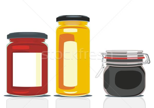 Clássico forma congestionamento fundo cozinha restaurante Foto stock © PilgrimArtworks