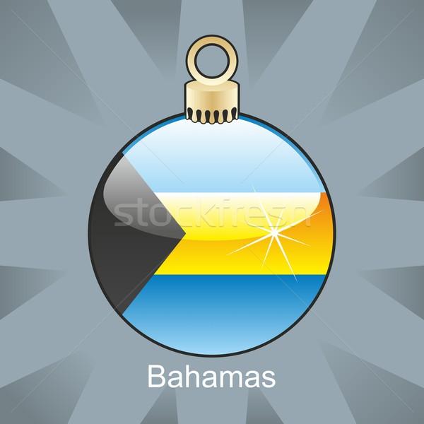 Bahamas bandeira natal bulbo forma Foto stock © PilgrimArtworks