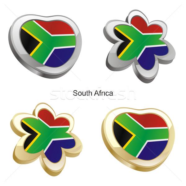 南アフリカ フラグ 中心 花 ストックフォト © PilgrimArtworks
