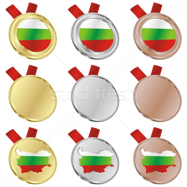 Bulgarije vector vlag medaille Stockfoto © PilgrimArtworks