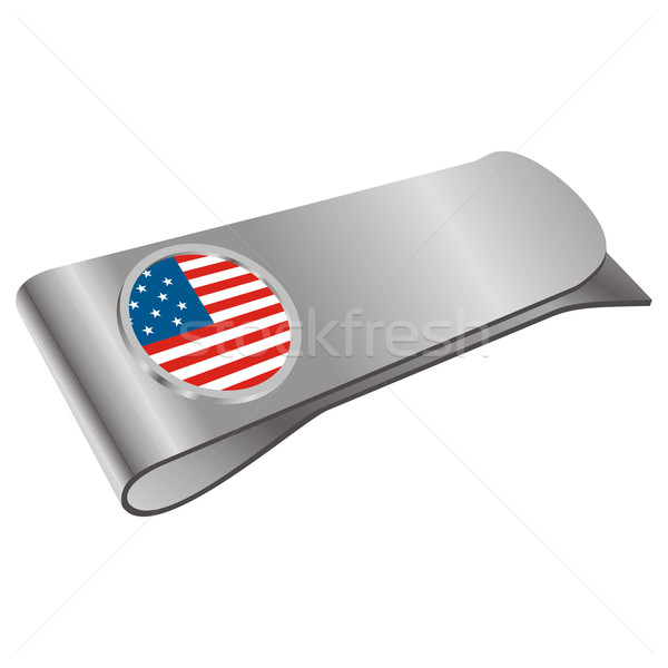 money clipper with USA flag Stock photo © PilgrimArtworks