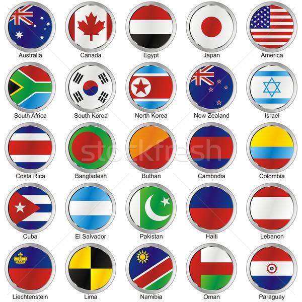Isolado bandeiras mundo terra África Foto stock © PilgrimArtworks