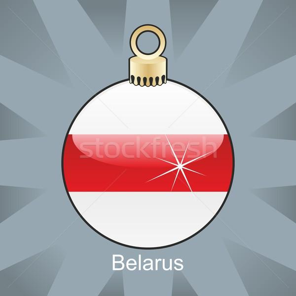 belarus flag in christmas bulb shape Stock photo © PilgrimArtworks
