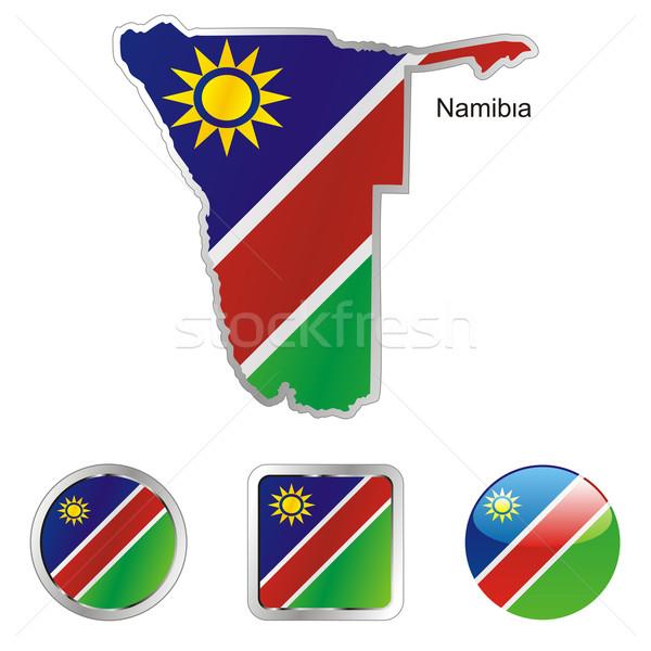 Намибия карта веб Кнопки Сток-фото © PilgrimArtworks