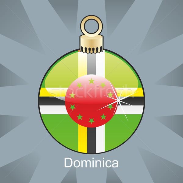 изолированный Доминика флаг Рождества лампа форма Сток-фото © PilgrimArtworks