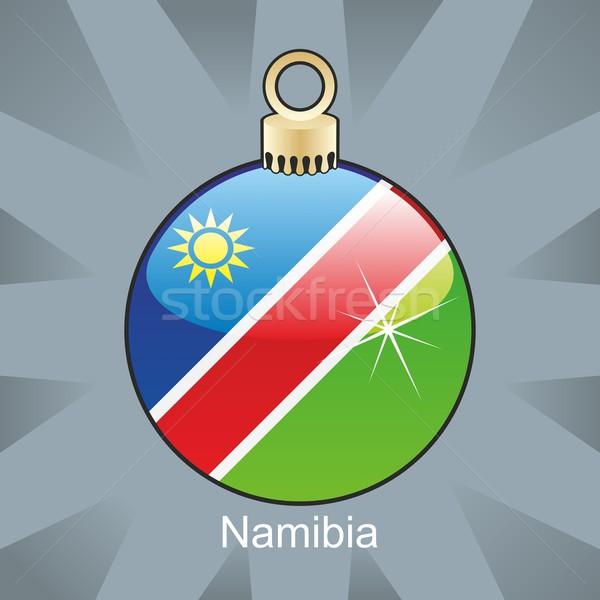 изолированный Намибия флаг Рождества лампа форма Сток-фото © PilgrimArtworks