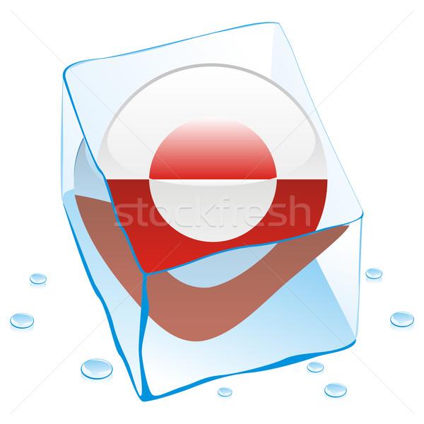 Knop vlag bevroren Ice Cube water Stockfoto © PilgrimArtworks