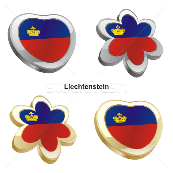 liechtenstein flag in heart and flower shape Stock photo © PilgrimArtworks