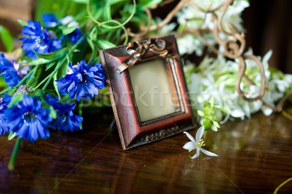 Stilleven antieke frame bloemen leven Stockfoto © Pilgrimego