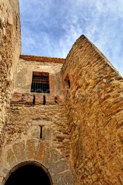古い 城 スペイン ボトム 表示 空 ストックフォト © Pilgrimego