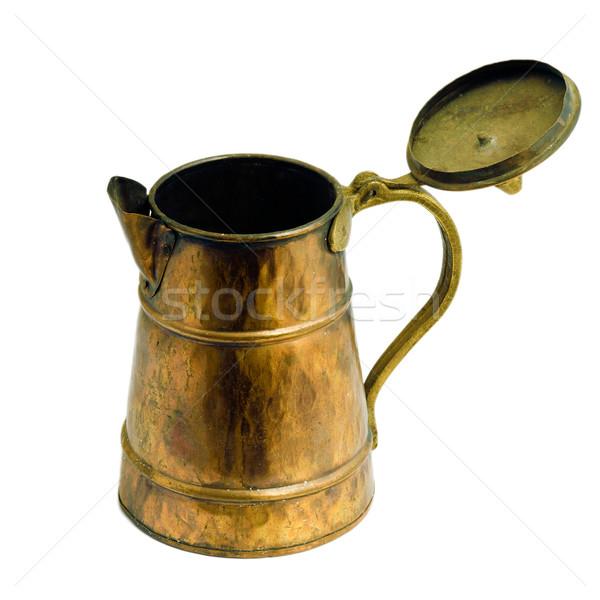 Antiguos cobre jar blanco aislado imagen Foto stock © Pilgrimego