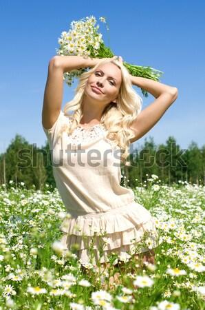 Verão retrato belo nu mulher Foto stock © Pilgrimego