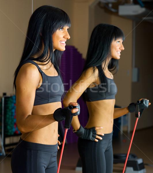 Stok fotoğraf: Güzel · bir · kadın · bar · spor · kulüp · kız · vücut