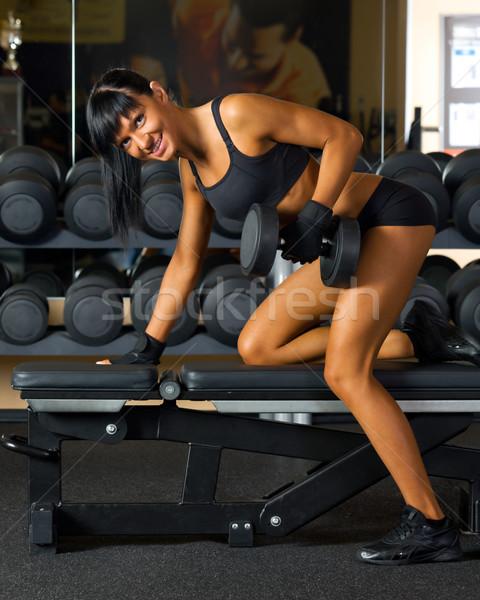 Stockfoto: Mooie · vrouw · bar · sport · club · meisje · lichaam