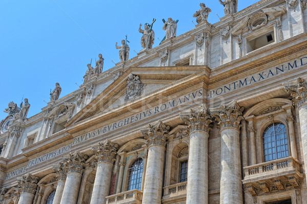 Watykan Włochy katedry historii kultury muzeum Zdjęcia stock © Pilgrimego