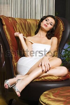 Beautiful woman in underwear in luxury interior. Stock photo © Pilgrimego