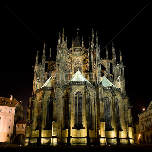 Saint Vitus' Cathedral in Prague Stock photo © Pilgrimego