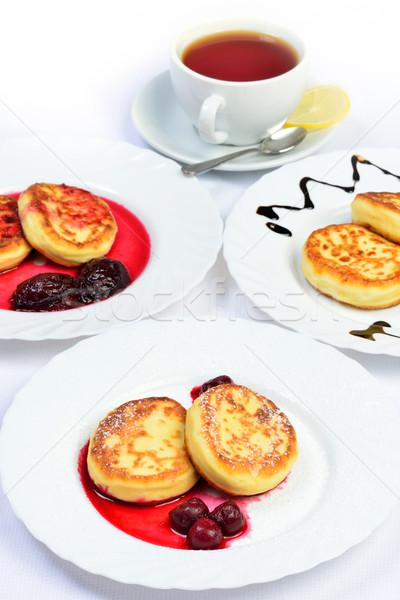 Gıda meyve fincan beyaz tablo natürmort Stok fotoğraf © Pilgrimego