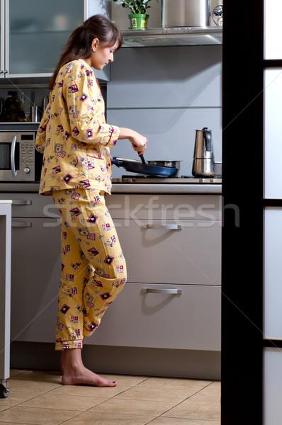 Cooking breakfast Stock photo © Pilgrimego