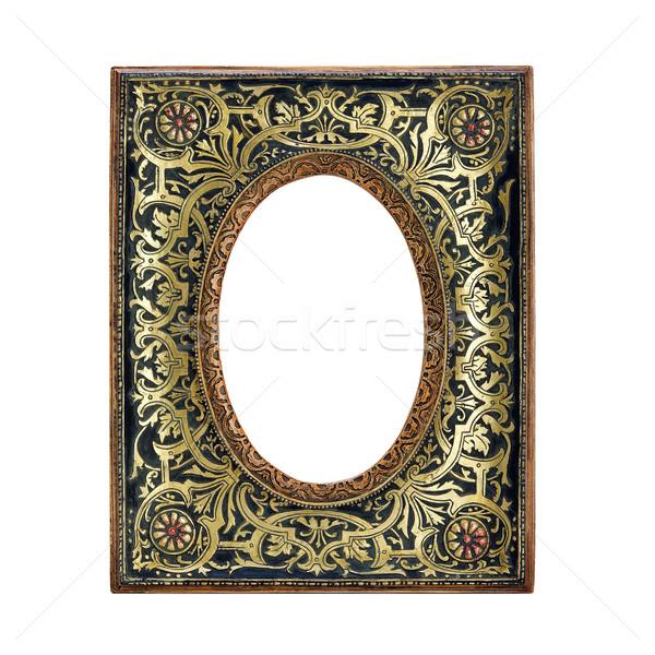 Antieke frame witte oude geïsoleerd Stockfoto © Pilgrimego
