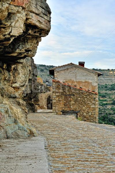 小 スペイン語 旧市街 山 表示 スペイン ストックフォト © Pilgrimego