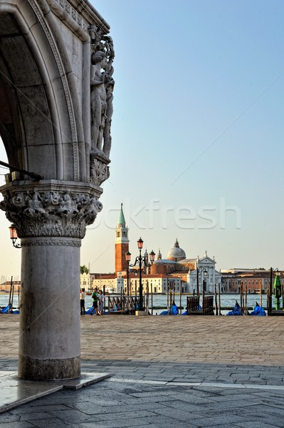 View to Doge's Palace in Venice. Stock photo © Pilgrimego