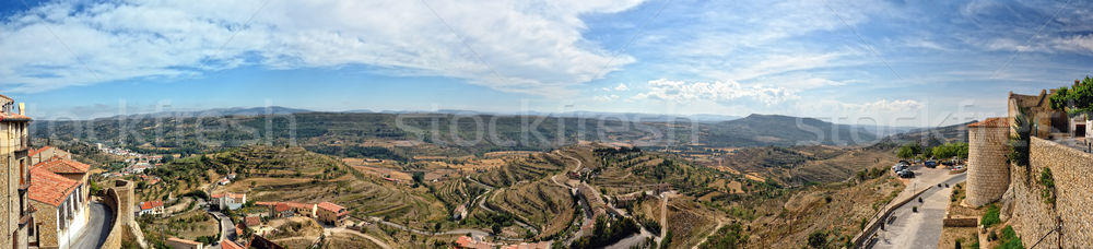 Сток-фото: Испания · пейзаж · города · гор · панорамный · небе