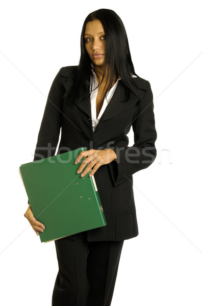businesswoman with big binder Stock photo © Pilgrimego