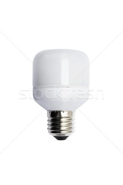 Energia takarékosság villanykörte izolált kép fehér Stock fotó © Pilgrimego