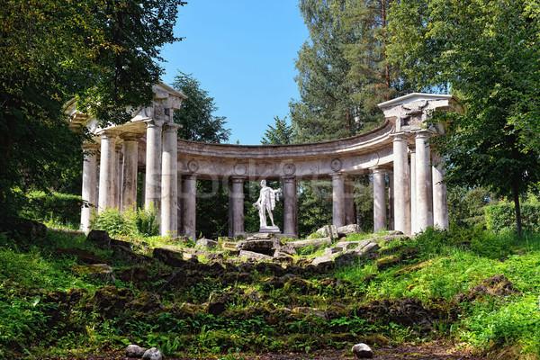 Summer landscape of the Pavlovsk garden, Apollo Colonnade Stock photo © Pilgrimego
