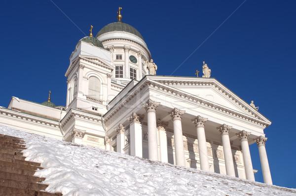 Helsinki katedral ana kare görmek Stok fotoğraf © Pilgrimego