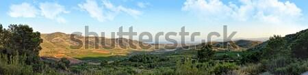 パノラマ 表示 山 夏 日 スペイン ストックフォト © Pilgrimego