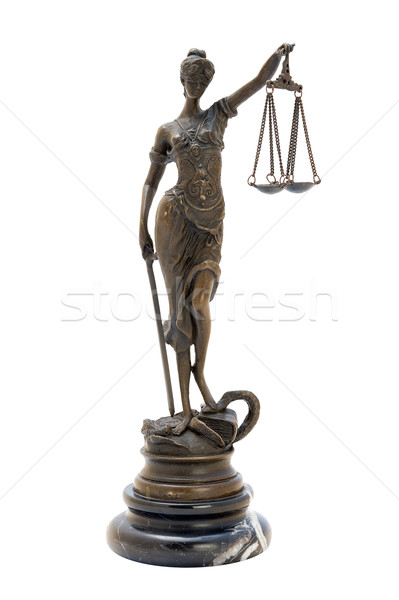 antique bronze statuette of the goddess Themis. Stock photo © Pilgrimego